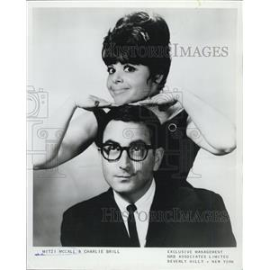 1967 Press Photo of acting duo & couple Mitzi McCall and Charlie Brill