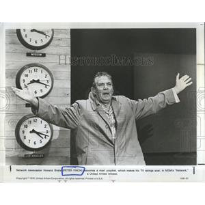 1976 Press Photo Peter Finch Network MGM - RSH98441