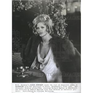 1972 Press Photo Karin Schubert German Movie Actress Bluebeard - RSC50789