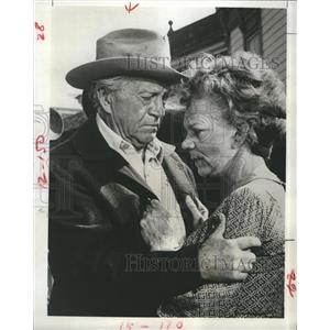 1968 Press Photo Paul Fix Ellen Corby The Guns of Will Sonnett The Pariah