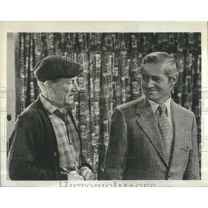 "1972 Press Photo Arthur Hill & Hoagy Carmichael ""Owen Marshall, Conselor at Law"""