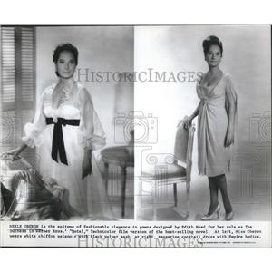 1969 Press Photo Merle Oberon  in her fashionable elegance in his gown