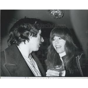 1974 Press Photo Jane Fonda & Tom Hayden