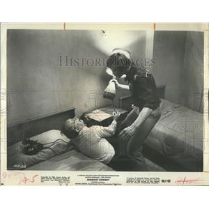 1969 Press Photo Jon Voight and Dustin Hoffman in Midnight Cowboy