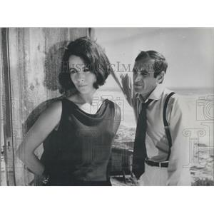 """1963 Press Photo Charles Aznovour and Clatre Bloom in """"High Infidelity"""""""