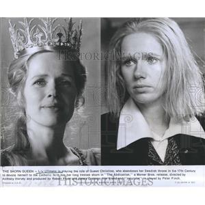 1976 Press Photo Liv Ullman Queen Christina The Abdiction Actress movie