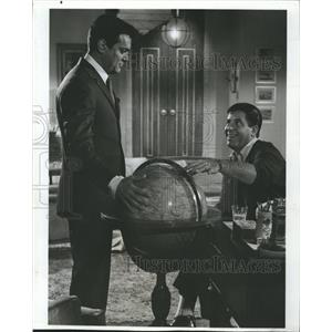 1969 Press Photo Tony Curtis Actor Jerry Lewis Boeing-Boeing Film Movie Scene