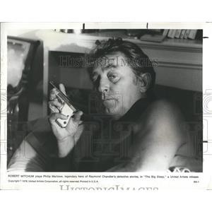 "1978 Press Photo Robert Mitchum in ""The Big Sleep"" - RSH98453"