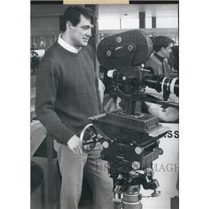 1968 Press Photo Film Star Rock Hudson in Salzburg. - KSB08557