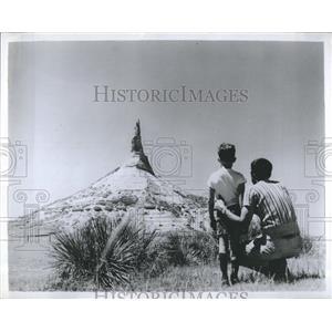 1964 Press Photo Chimney Rock Bayard Nebraska Oregon Trail