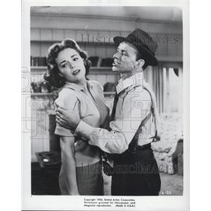 1954 Press Photo Nancy Gates and Frank Sinatra, Actors - XXB16379