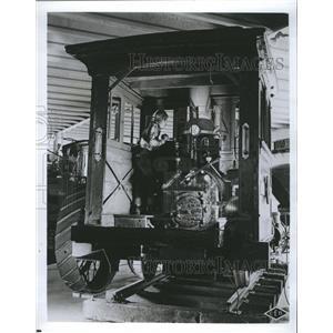1965 Press Photo Boy standing in a train