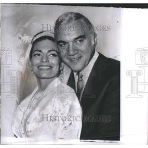 1961 Press Photo Lorne Greene Actor  Weds Nancy Deale