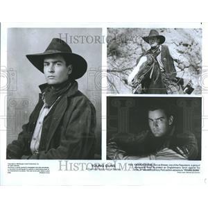 1988 Press Photo Young Guns Charlie Sheen Promo Stills - RRR91535