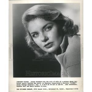 1956 Press Photo Joanne Woodward Climax Chrysler Corpor