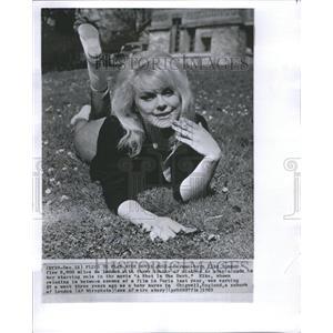 1963 Press Photo Artist Entertainer Actress Elke Sommer