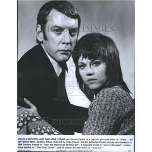 1971 Press Photo Donald McNichol Sutherland Actor Film