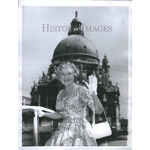 1955 Press Photo Mary Pickford Marica Actress Artists