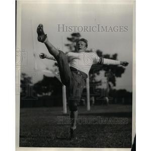 1928 Press Photo Lud Frentrup, Halfback of Stanford University Football Team.