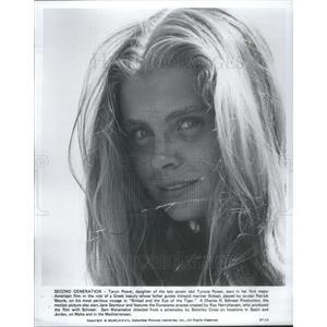 1977 Press Photo Taryn Power American Film Actress Entertainer Chicago Illinois