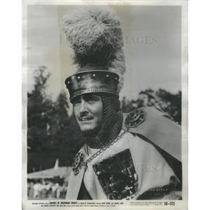 1950 Press Photo Chainmailed John Derek In Rogues of Sherwood - RSC70097