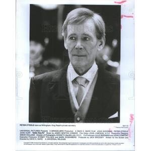 "1991 Press Photo Peter O'Toole Stars as Willingham in ""King Ralph."" - RSC74095"