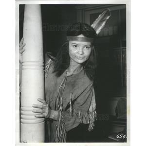 "1958 Press Photo Daria Massey in ""The Restless Gun"" - RSC81305"