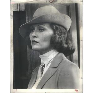 "1976 Press Photo Actress Faye Dunaway of CBS Show ""Chinatown"" - RSC62823"