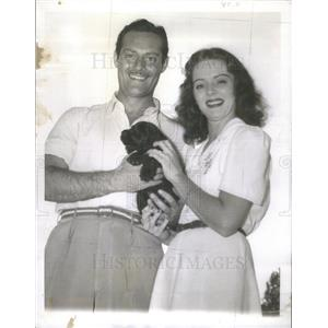 1940 Press Photo Arleen Whelan Old FIlm Actress husband Alexander D'Arcy Vegas