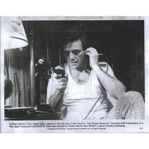 1978 Press Photo Peter Falk Neil Simon The Cheap Detective Columbia Ray Stark