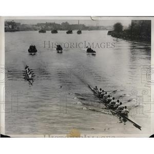 1931 Press Photo Oxford U vs Cambridge at crew races - nea50031