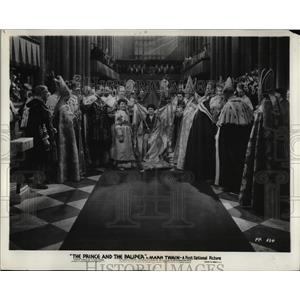 1937 Press Photo Scene from First National's film The Prince and The Pauper