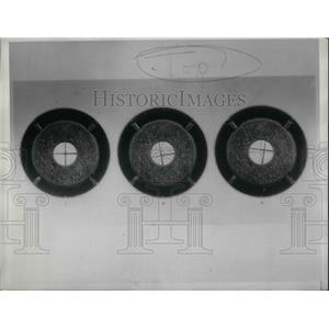 1933 Press Photo Two Pointer Instrument Showing 3 Typical Course Indicators