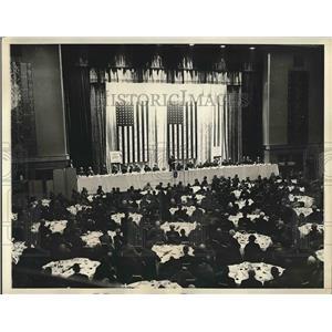 1934 Press Photo AP luncheon at Waldorf Astoria Hotel