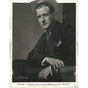 1934 Press Photo Tullio Carminati Italian Actor EI Cid - RRT07891
