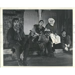 1958 Press Photo Henry V Play Cast Scene Falstaff Dead