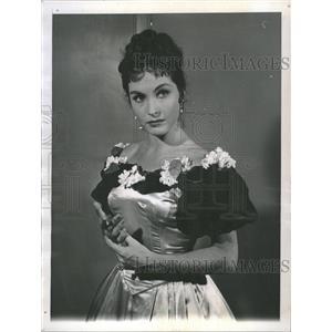 1958 Press Photo Yvonne Furneaux French Actress - RRT67993