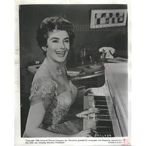 1956 Press Photo Kay Kendall Peter Finch Simon Laura TV - RRT50925