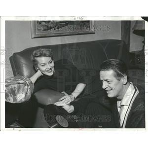1958 Press Photo Actress Choreographer Couple Home - RRT21489