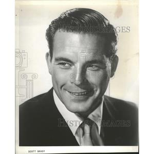 1957 Press Photo Scott Brady American Film Actor - RRT99819