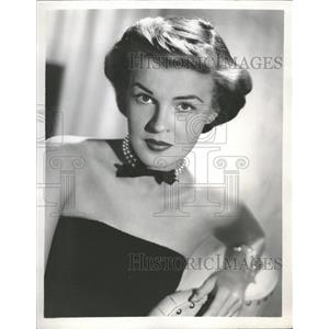 1958 Press Photo Peggy Knudsen America Character Artist - RRT61825