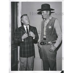1959 Press Photo Henry Fonda Actor Geroge Gobel Show