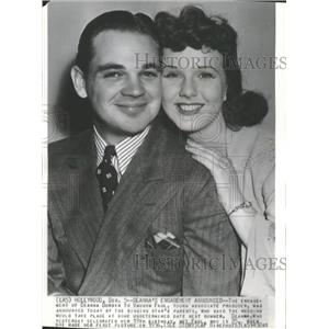 1936 Press Photo Deanna Durbin and Vaughn Paul engaged - RRT63641