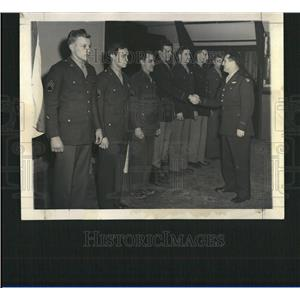 1944 Hells Angels Air Force Receiving Metal Press Photo - RRT14367