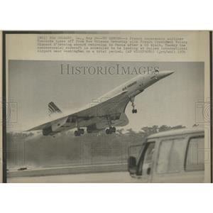 1976 Press Photo French President Airliner Concord