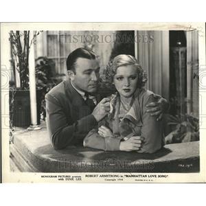 1934 Press Photo Robert Armstrong Dixie Lee - RRT22483