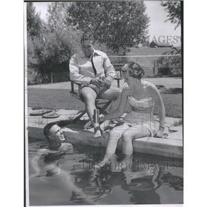 1955 Press Photo Pretty Miss Elaine Wallbank - RRT42259