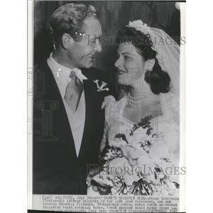 1942 Press Photo Diana Barrymore Bramwell Fletcher - RRT65107