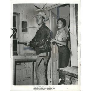 1956 Press Photo Movie Actors Franz Dowling Cowboy - RRT07263