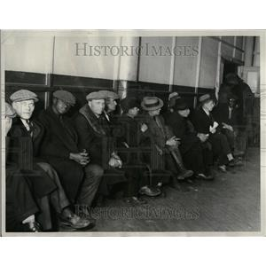 1932 Press Photo Fisher Lodge Unemployment Michigan